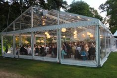 Dining Pavilion with clear roof