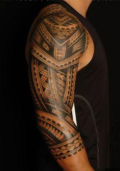faux tatouage maori #tattoospolynesiansleeve