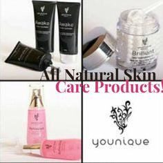 Why not use all natural skin products that help your face naturally?!? Makes sense right!  #younique #skincare