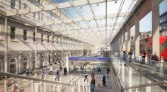 Latest designs for Crossrail's Paddington station - Get West London Civil Engineering Projects, Internal Design, Liverpool Street, London United Kingdom, Urban Design, Custom Homes, New England, Transportation, Architecture