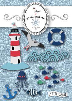 Plotterdateien:  on the open sea by Lila-Lotta / erhältlich bei Huups.de