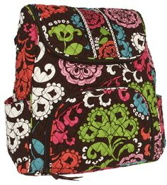 Vera Bradley Double Zip Backpack (Lola) - Bags and Luggage on shopstyle.com