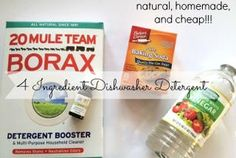 Natural, Homemade Dishwasher Detergent...