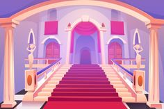 Castle Staircase, Upward Stairs In Palace Entrance Stock Vector - Illustration of arched, luxury: 163633483 Scenery Background, Cartoon Background, Background Images, Palace, Anime Backgrounds Wallpapers, Pony Drawing, Instagram Frame, Backrounds, Vector Photo