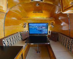 1965 Safari - 42 lcd screen rises from dinette -solid birch interior Photo Gallery