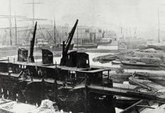 "BW192-3-2-2-28-56: "" Coal discharging jetty at Regent's Canal Dock"" c1911"