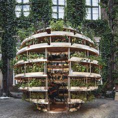 The Growroom é um abrigo, uma estrutura que traz a natureza de volta às cidades e uma alternativa autossustentável de produção de alimentos
