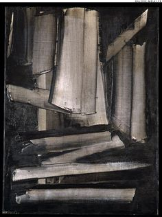 Pierre SOULAGES. Composition. 1959. Oil on canvas