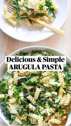 Broccoli Pasta, Broccoli Recipes, Vegetarian Recipes, Cooking Recipes, Healthy Recipes, Arugula Recipes, Salad Sauce, Pasta Dinner Recipes, Homemade Pasta