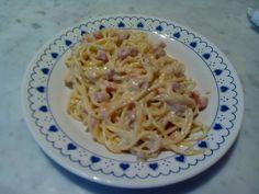 Spaghetti alla carbonara con crema di tartufo...favolosi:-)