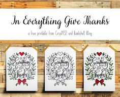 This In Everything Give Thanks Printable is perfect Thanksgiving decor. There are 3 FREE variations, including a black and white, which can be used as a coloring page! Thanksgiving Gifts, Thanksgiving Decorations, Templates Printable Free, Free Printables, In Everything Give Thanks, Christmas Coloring Pages, Christmas Colors, Fourth Of July, Thankful