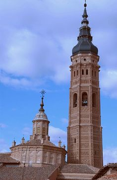 calatayud: torre y cimborrio de sta. maria