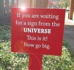 A Sign for You