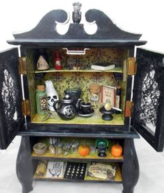 The Witch's Cabinet, Gothic Home Decor by Nacreous Alchemy by NacreousAlchem...