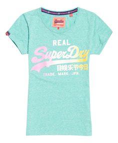 Superdry T-shirt délavé Vintage Logo Vert