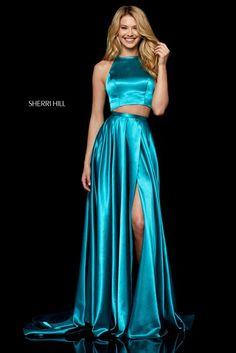 3ca2825973e Sherri Hill 52230 Strapless satin cocktail with sweetheart corset bodice.  Aqua Prom Dress