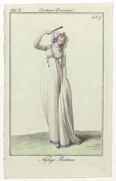Journal des Dames et des Modes, Costume Parisien, 27 octobre 1799, An 8 (167) : Négligé Boiteux, Anonymous, Pierre de la Mésangère, 1799