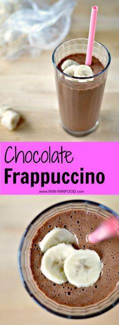 Chocolate Frappuccino | WIN-WINFOOD.com #healthy #vegan #glutenfree #cleaneating #paleo