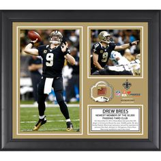 "Drew Brees New Orleans Saints Fanatics Authentic Framed 15"" x 17"" 50,000 Career Passing Yards Collage with Game-Used Ball - Limited Edition of 500 - $63.99"