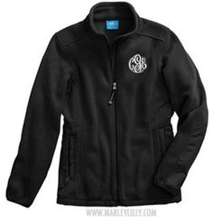 Monogram fleece jacket- wish I could do this with the black fleece I already have