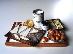 Croissant preparation board -Miniature in 1:12 by Erzsébet Bodzás, IGMA Artisan