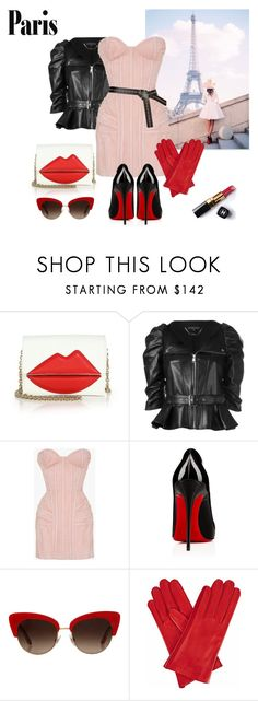 """""""Paris style"""" by curlysuebabydoll ❤ liked on Polyvore featuring Sara Battaglia, Alexander McQueen, Balmain, Dolce&Gabbana, Gizelle Renee, Chanel, Fall, fashionset, polyvoreeditorial and fallgetaway"""