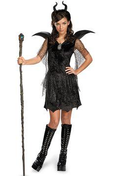 Maleficent Black Gown Deluxe Tween/Teen Costume
