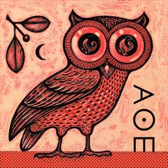 mom~ this a more traditionally greek owl. Like the ones on there coins