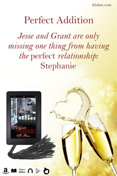 Jesse and Grant are only missing one thing from having the perfect relationship: Stephanie #RomanceBooks #ContemporaryRomance #BDSM #EroticRomance #Menage #Threesome Romance Authors, Romance Books, Perfect Relationship, Erotic, Perfume Bottles, Perfume Bottle, Romance Novels