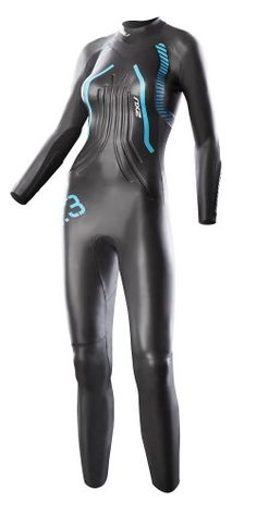 2XU Women's R:3 Race Wetsuit, Small/Medium, Black/Bondi Blue -- You can get more details by clicking on the image.