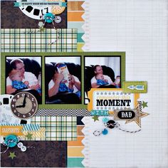 A Boys Rule Scrapbook Kits layout using Echo Park: This and That Charming.