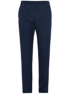 Gucci slim leg silk-blend pants