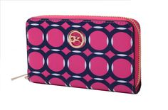 Ladies Wristlet Leather Zip Wallet Purse Clutch Case Cover For iPhone 4 5 5 Circles Cross Patterns