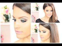 ▶ Colorful Dramatic Spring/Summer Clubbing Look - Mint Green, Black and Blue #makeup #eyemakeup #beauty #trends