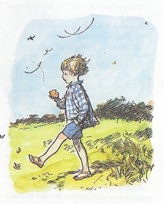 I love old Winnie the Pooh illustrations. Christopher Robin reminds me of my little brother Jamie these days.