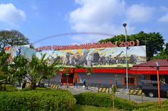 Surabaya zoo's front gate