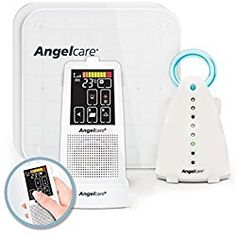 Angelcare Movement and Sound Monitor Deluxe Plus, Aqua/White