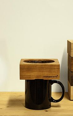 The Prettiest Way To Brew Pour Over Coffer - supposedly the wood absorbs the oil from the coffee and improves flavour with long term use, an interesting idea. (Not sure I'm that patient) Pour Over Coffee, Drip Coffee, My Coffee, Coffee Beans, Coffee Shop, Coffee Maker, Coffee Facts, Coffee Dripper, Coffee Culture
