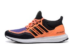90850e93c Adidas Ultra Boost B27171 Womens Orange Purple Runner Shoes