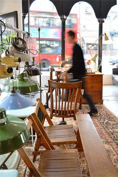 Pott's Antiques lamps interior