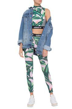 d2bf0181735 Calça Tight Floresta Adidas Originals + Farm - Rosa