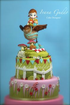 """""""Dream of spring with the young Anna Frozen"""" Realizzata per la 2° esposizione di arte culinaria organizzata dal """"Culinary team Palermo""""."""