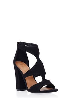 Open Toe Sandals with Chunky Heels