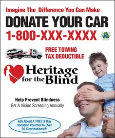 Heritage for the Blind offers a vehicle donation program with proceeds ...