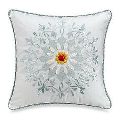 Jaipur Square Toss Pillow is the perfect complement to your Jaipur bedding.