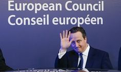 David Cameron at the EU leaders' summit in Brussels