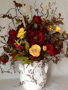 Shabby Chic Summer Floral Arrangement via Etsy.
