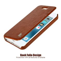 Jisoncase Luxury Fashion Brand Leather Cases for iPhone SE 5S Phone Case for iPhone 5  Flip Case Cover Mobile Phone Cases & Bags