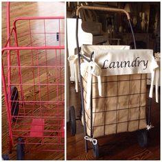 DIY Granny Shopping Cart Laundry Hamper