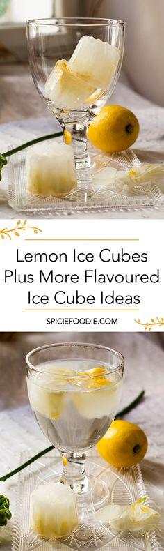 Lemon Ice Cubes + More Flavoured Ice Cube Ideas | #flavouredicecubes #infusedIceCubes #lemon
